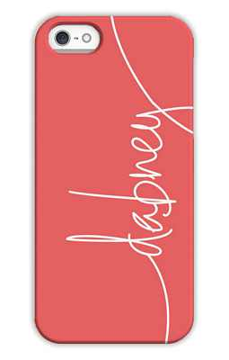 Coral Monogrammed Tech and Phone Cases from Dabney Lee