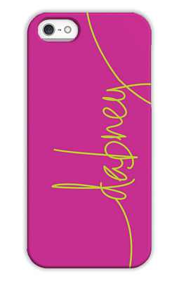 Fuchsia Monogrammed Tech and Phone Cases from Dabney Lee