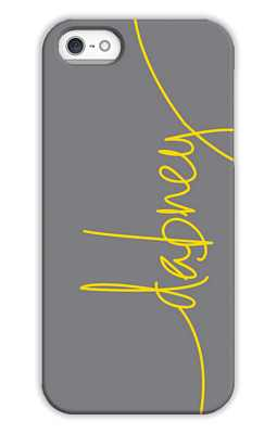 Dark Grey Monogrammed Tech and Phone Cases from Dabney Lee