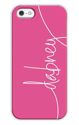 Hot Pink Monogrammed Tech and Phone Cases from Dabney Lee