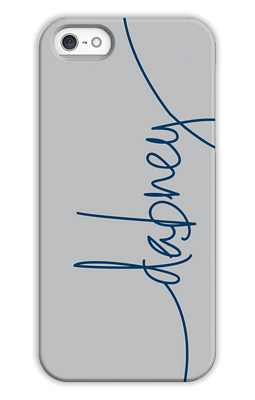 Light Grey Monogrammed Tech and Phone Cases from Dabney Lee
