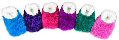 Solid Color OMG Snoozies Fleece Foot Coverings-New!
