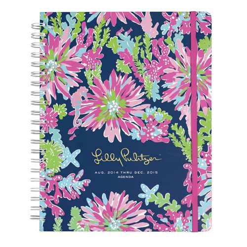 2014/2015 Jumbo 17 Month Agenda from Lilly Pulitzer Trippin' and Sippin'