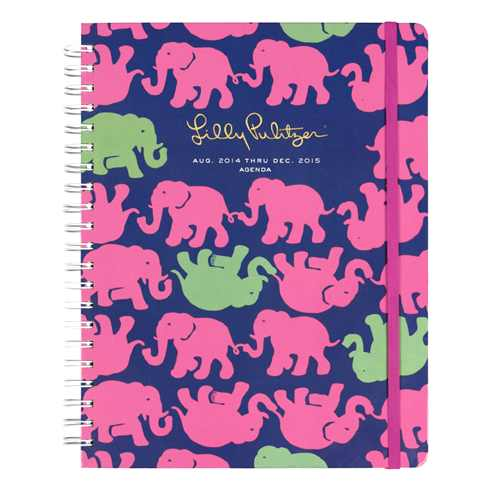 2014/2015 Jumbo 17 Month Agenda from Lilly Pulitzer Tusk in the Sun