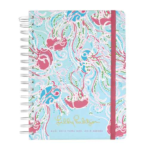2014/2015 Large 17 Month Agenda from Lilly Pulitzer Jellies Be Jammin'