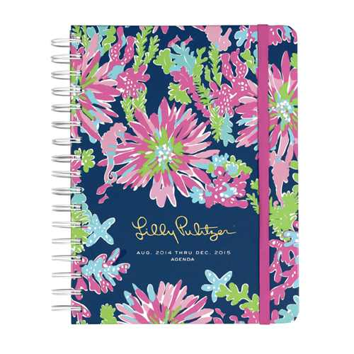 2014/2015 Large 17 Month Agenda from Lilly Pulitzer Trippin' and Sippin'