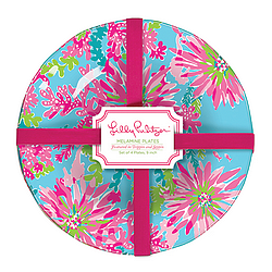 Melamine Plate Set from Lilly Pulitzer - Trippin and Sippin