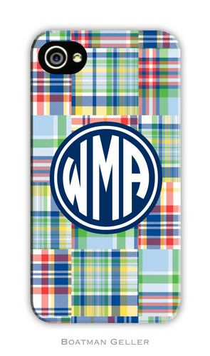Madras Plaid Blue Personalized Boatman Geller Hard Cell Phone and Tech Cases