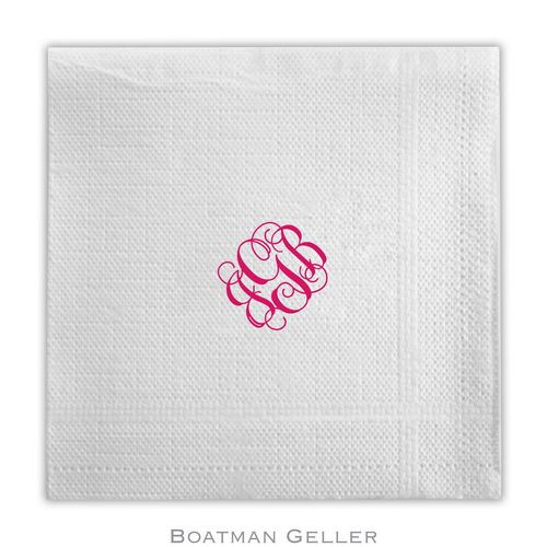 Personalized and Monogrammed Napkins and Guest Towels from Boatman Geller