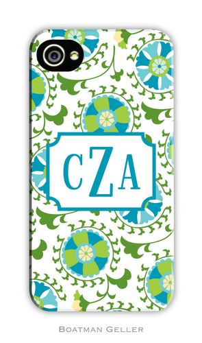 Suzani Teal Personalized Boatman Geller Hard Cell Phone Case-hard cell phone cases from boatman geller, iphone cell phone cases, blackberry cell phone cases, samsung cell phone cases, suzani teal cell phone case