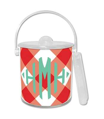 Double Walled Buffalo Check Lucite Ice Bucket from Whitney English - more colors
