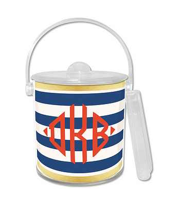 Double Walled Classic Stripe Ice Bucket from Whitney English - more colors