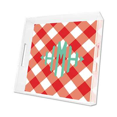 Buffalo Check Lucite Tray from Whitney English - more colors and sizes