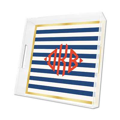 Classic Stripe Lucite Tray from Whitney English - more colors and sizes