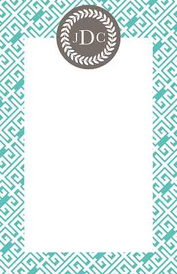 Greek Key Large Notepad from Whitney English - more colors