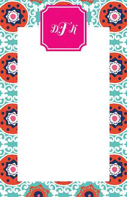 Modern Suzani Large Notepad from Whitney English - more colors