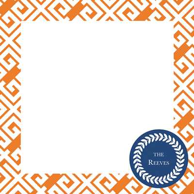 Greek Key Square Note Sheets in Acrylic from Whitney English - more colors