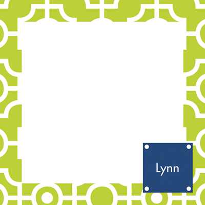 Lattice Square Note Sheets in Acrylic from Whitney English - more colors