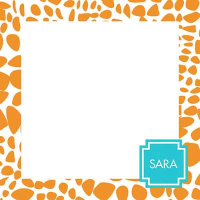 Lizard Square Note Sheets in Acrylic from Whitney English - more colors