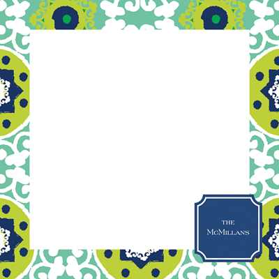 Modern Suzani Square Note Sheets in Acrylic from Whitney English - more colors