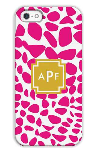 Lizard Bright Pink Personalized Tech Cases for iPhone, iPad, iPod and Samsung by Whitney English