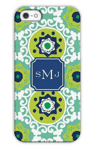 Modern Suzani Jade Personalized Tech Cases for iPhone, iPad, iPod and Samsung by Whitney English