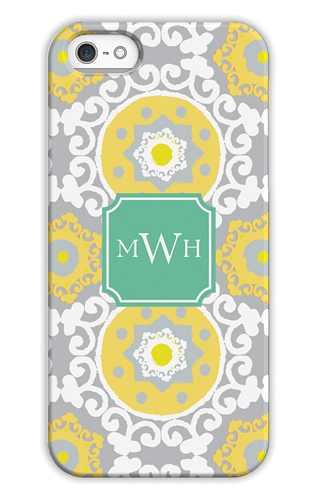 Modern Suzani Lemon Personalized Tech Cases for iPhone, iPad, iPod and Samsung by Whitney English