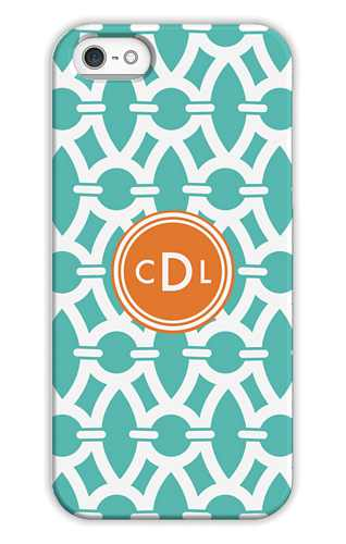 Trellis Aqua Sky Personalized Tech Cases for iPhone, iPad, iPod and Samsung by Whitney English