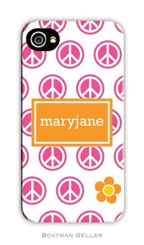 Peace Repeat Personalized Boatman Geller Hard Cell Phone and Tech Cases