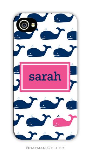 Whale Repeat Navy Personalized Boatman Geller Hard Cell Phone Case