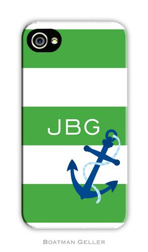 Anchor Stripe Personalized Boatman Geller Hard Cell Phone and Tech Cases