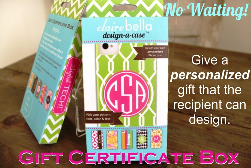 Design-Your-Own iPhone Cell Case Gift Certificate from Clairebella