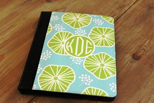 Personalized iPad2 Neoprene Folio Case From Clairebella-Many Options