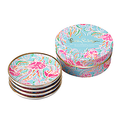 Ceramic Coaster Set from Lilly Pulitzer - Jellies Be Jammin