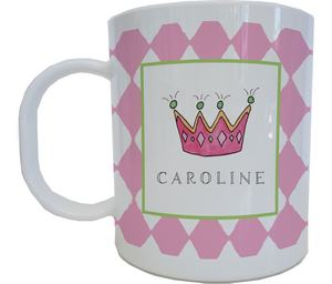 Princess Mug from Kelly Hughes Designs-kelly hughes mugs, melamine mugs from kelly hughes, mugs to match plates and placemats, princess melamine mug