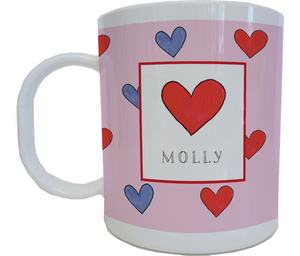 Happy Hearts Mug from Kelly Hughes Designs
