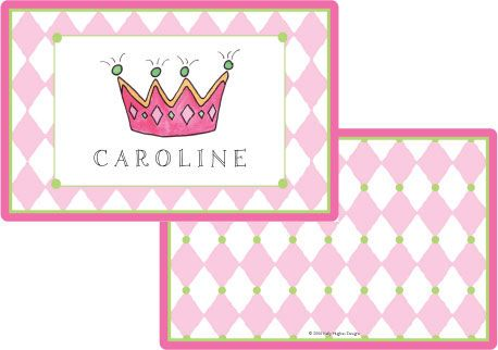 Little Princess Placemat from Kelly Hughes Designs