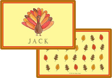 Tom Turkey Placemat from Kelly Hughes Designs