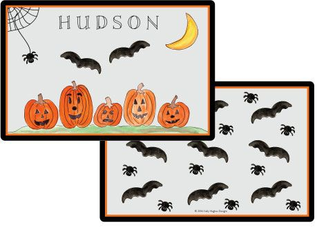 Haunted Halloween Placemat from Kelly Hughes Designs