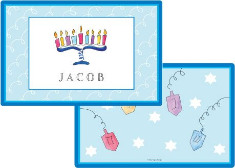 Hanukkah Placemat from Kelly Hughes Designs