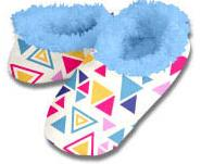 Triangles Snoozies Fleece Foot Coverings-New!