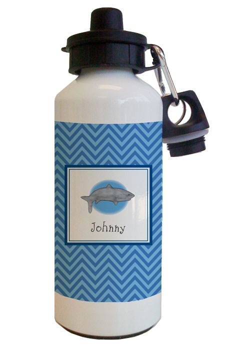 Shark Attack Water Bottle from Kelly Hughes Designs