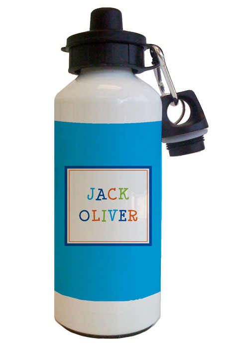Funky Blue Water Bottle from Kelly Hughes Designs