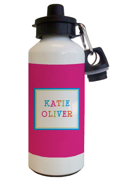 Funky Pink Water Bottle from Kelly Hughes Designs