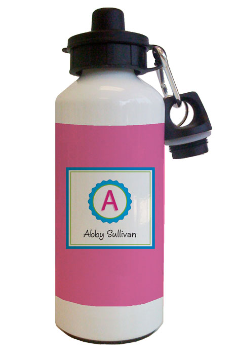 Pink Bottle Cap Water Bottle from Kelly Hughes Designs
