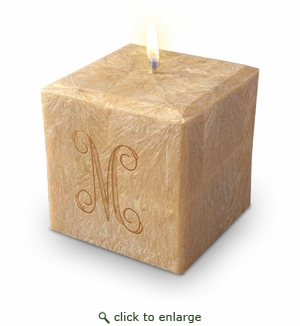 Eco-Friendly Personalized Candles-Initial from Carved Solutions-personalized eco friendly candle from carved solutions