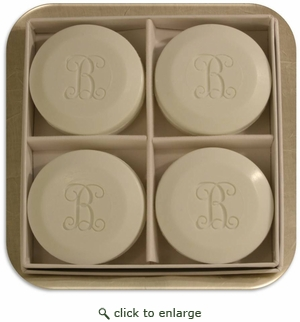 Signature Spa Personalized Round Soap from Carved Solutions-4 bars