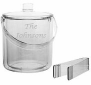 Personalized Acrylic Ice Bucket from Carved Solutions-