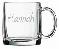 Personalized Glass Large Mug from Carved Solutions