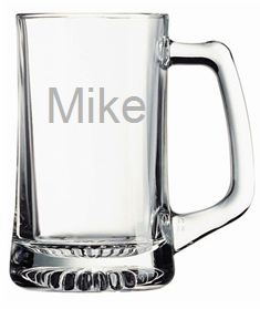 Personalized Glass Sports Mug from Carved Solutions-